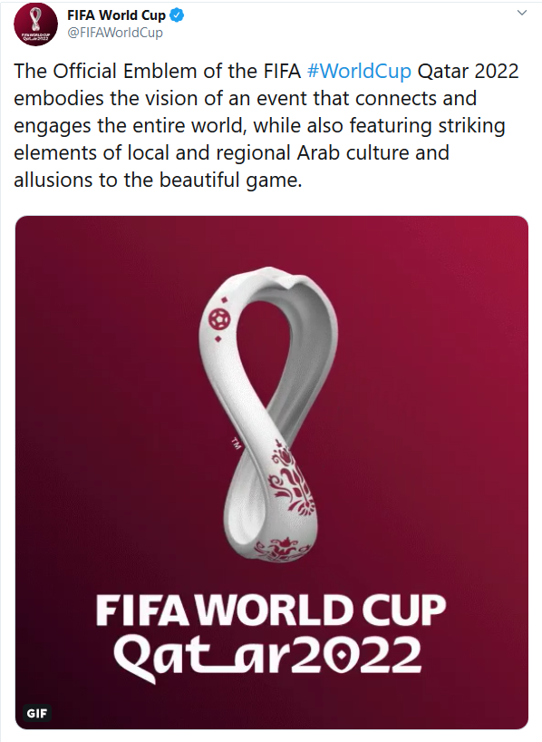 The Official Emblem of the FIFA #WorldCup Qatar 2022 embodies the vision of an event that connects and engages the entire world.