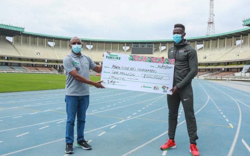Safaricom commits Sh1m to support Mark Otieno's Olympics journey